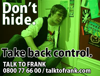 Talk to Frank on 0800 7766 00